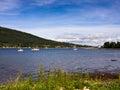 Sandbank fishing village scotland uk Royalty Free Stock Photo