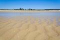 Sandbank at low tide Royalty Free Stock Photo