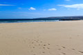 Sandbanks dorset sunny day on beach england uk Stock Image