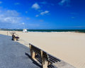 Sandbanks dorset sunny day on beach england uk Stock Photos