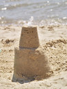 Sandcastle on beach Royalty Free Stock Image