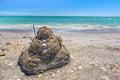 Sandcastle Beach Royalty Free Stock Photo