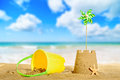 Sandcastle On The Beach Royalty Free Stock Photo