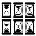 Sandglass icon Stock Photos