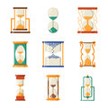 Sandglass icon time flat design history second old object and sand clock hourglass timer hour minute watch countdown Royalty Free Stock Photo