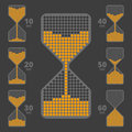 Sandglass like indicator set 1 Royalty Free Stock Photo