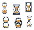 Sandglass symbols Royalty Free Stock Photo