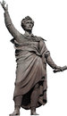 Sandor Petofi statue in Budapest isolated Stock Photography