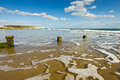 Sandown beach isle of white Royalty Free Stock Photography