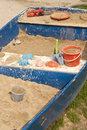 Sandpit in a rowboat blue Royalty Free Stock Images