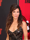 Sandra bullock academy award winning actress arrives on the red carpet at the ziegfeld theatre in manhattan for the new york Royalty Free Stock Photos
