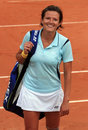 Sandra Martinovic at Roland Garros Royalty Free Stock Photos