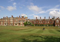 Sandringham house residence in norfolk with a lawn in front of it Stock Image