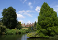 Sandringham park with a pond on the foreground Stock Images