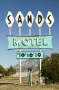 Sands motel sign with rv parking for located at the intersection of route in carrizozo new mexico Stock Photo