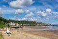 Sandsend beach near Whitby Royalty Free Stock Photo