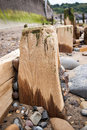 Sandsend Groynes - Groyne - Sandsend - North Yorkshire - UK Royalty Free Stock Photo