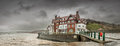 Sandsend - Wet and Windy - North Yorkshire - UK Royalty Free Stock Photo