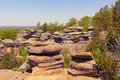 Sandstone bluffs in the wilderness of garden of gods shawnee national forest illinois Stock Images
