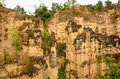 Sandstone cliffs at kad muang phee thailand is located in chai bpra gan prefecture Stock Images