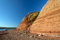 Sandstone cliffs in Nova Scotia Stock Photo