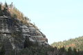 Sandstone cliffs Oybin Royalty Free Stock Photo