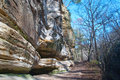 Sandstone Cliffs in Starved Rock Park Stock Photography