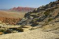 Sandstone cliffs in wyoming on the west side of the big horn mountains Stock Photos
