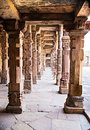 Sandstone columns at qutab minar delhi india see my other works in portfolio Royalty Free Stock Image