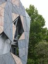 Sandstone decorative  facade on fed square Royalty Free Stock Photography