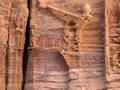 Sandstone gorge abstract pattern formation. Stock Image