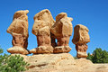 Sandstone hoodoos in devil s garden utah Royalty Free Stock Images