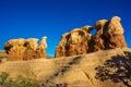 Sandstone hoodoos in devils gardern grand staircase escalante national monument utah Royalty Free Stock Photography