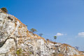 Sandstone massive mountain landmark at chonburi thailand Stock Photography