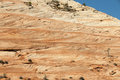 Sandstone Mountain Formation with Blue Sky Royalty Free Stock Photo