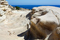 Sandstone rocks in cyprus photo of Stock Images