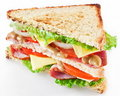 Sandwich with bacon Stock Photos