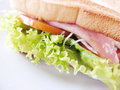 Sandwich with bacon and vegetables Royalty Free Stock Photos