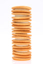 Sandwich biscuits stack of with white cream Royalty Free Stock Image