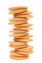 Sandwich biscuits stack of with white cream Royalty Free Stock Images
