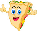 Sandwich cartoon character illustration of Royalty Free Stock Images