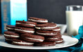 Sandwich chocolate or cacao cookies Royalty Free Stock Photo