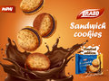 Sandwich chocolate cookies ad