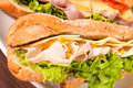 Sandwich close up Royalty Free Stock Photography