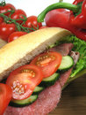 Sandwich close-up Royalty Free Stock Photo