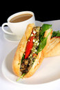 Sandwich and Coffee Stock Photography