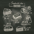 Sandwich Doodle Menu Drawing O...