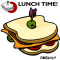 Sandwich Drawing Stock Photo