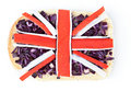 Sandwich with a flag of the Great Britain Royalty Free Stock Photography
