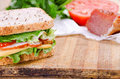 Sandwich and Ingredients. Food. Fresh & healthy food. Concept Royalty Free Stock Photo
